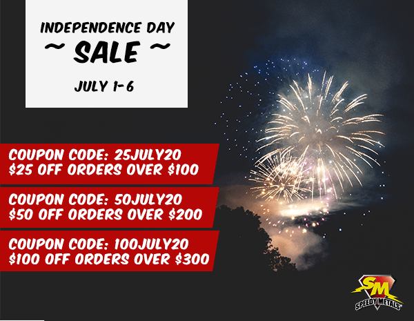 4th of July Sale: July 1-6. Save up to $100 off your online order.