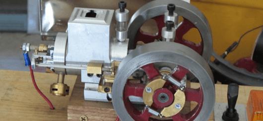 Aluminum and cast iron engine