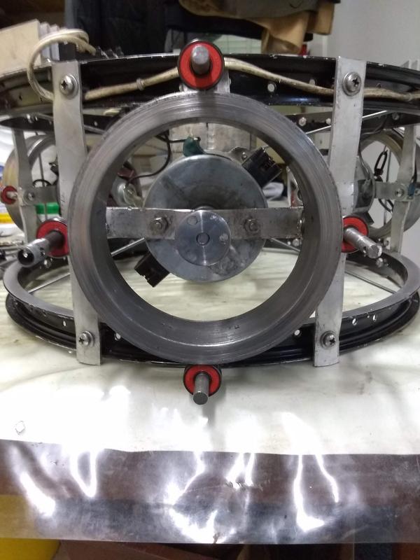 Rotor mounted on prototype