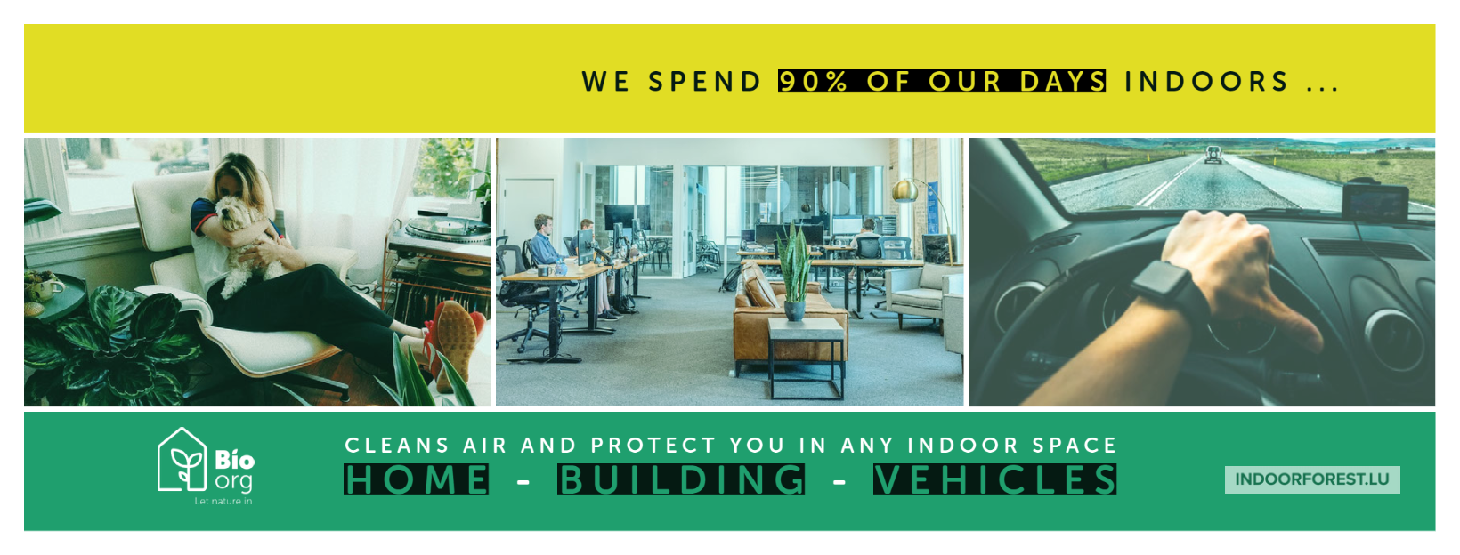 We spend 90% of our time indoors ... think about the air quality