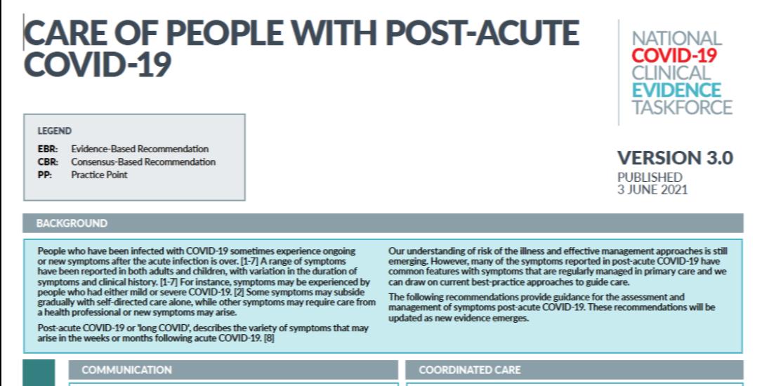 Post-Acute COVID-19 Flowchart