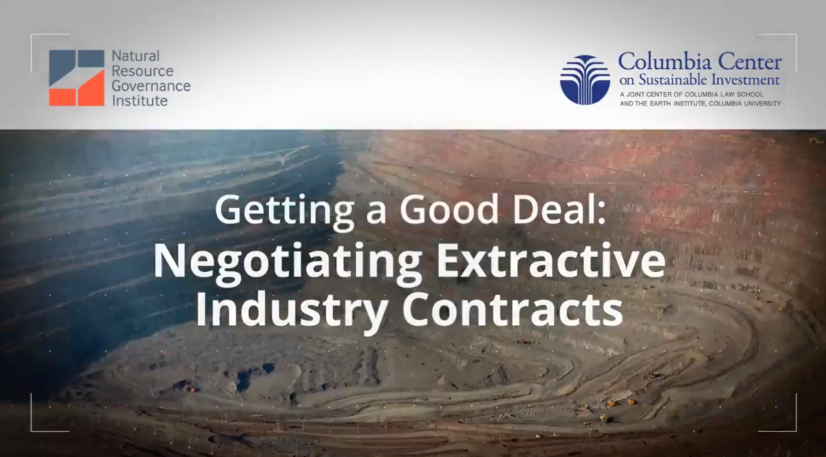 extractive industry contracts