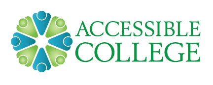 Accessible College Logo (blue and green)