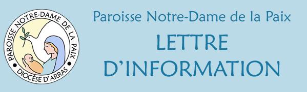 Paroisse ND de la Paix / Lettre d'information