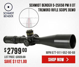 Schmidt Bender 5-25x56 PM II DT Tremor3