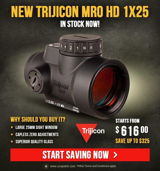NEW Trijicon MRO HD 1x25 - In Stock Now!