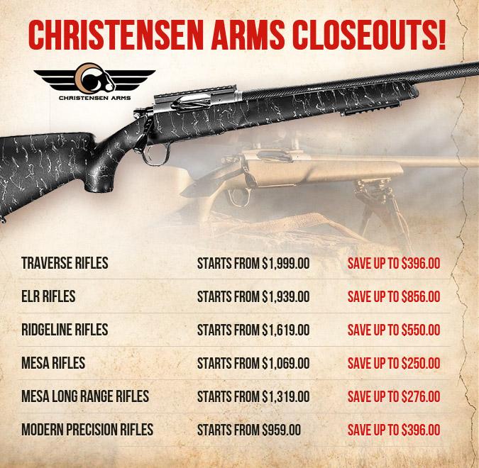 Christensen Arms Closeouts