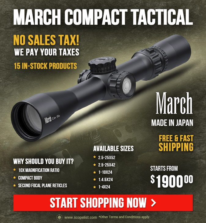 March Compact Tactical Riflescopes