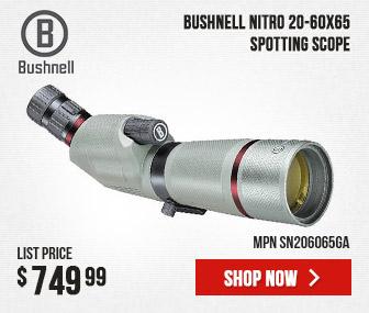 Bushnell Nitro Spotting Scope 20-60x65