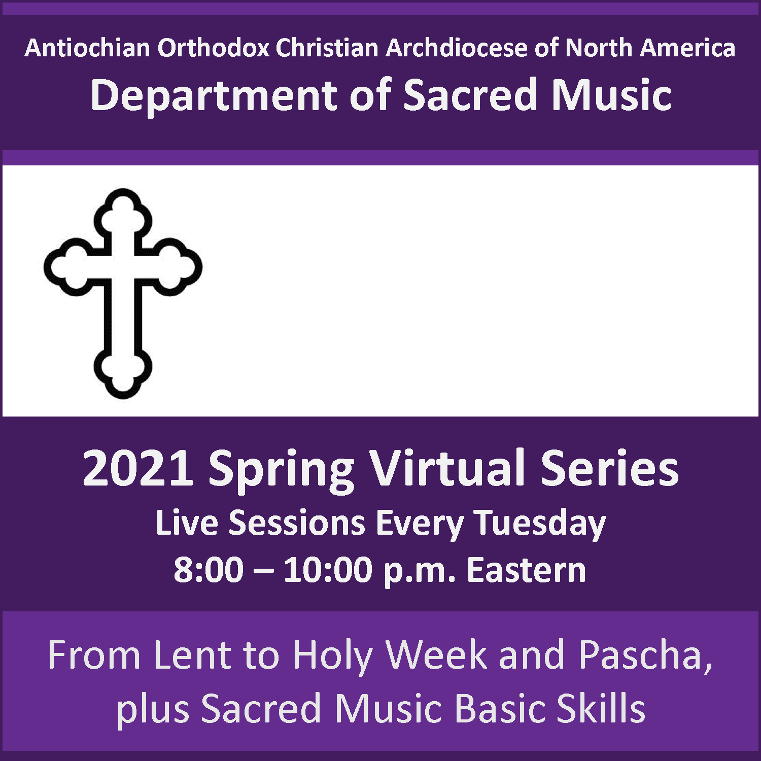 Department of Sacred Music Spring 2021