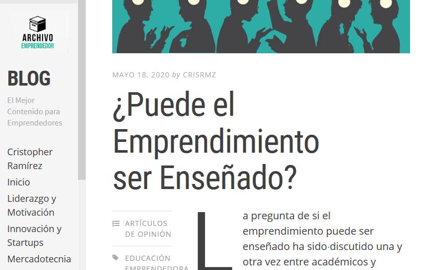 Blog para emprendedores