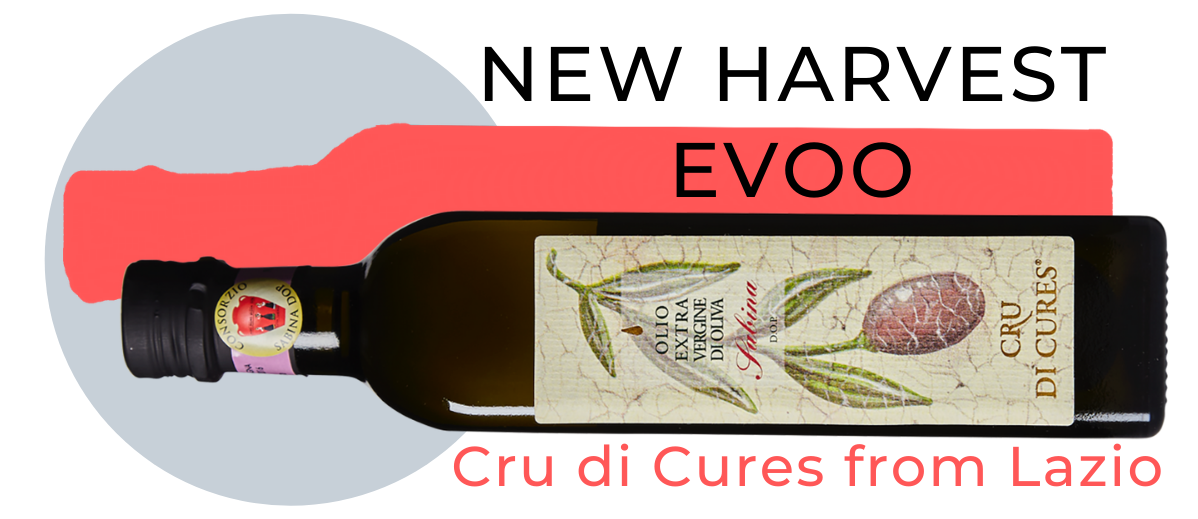 New harvest evoo. Cru di Cures from Lazio