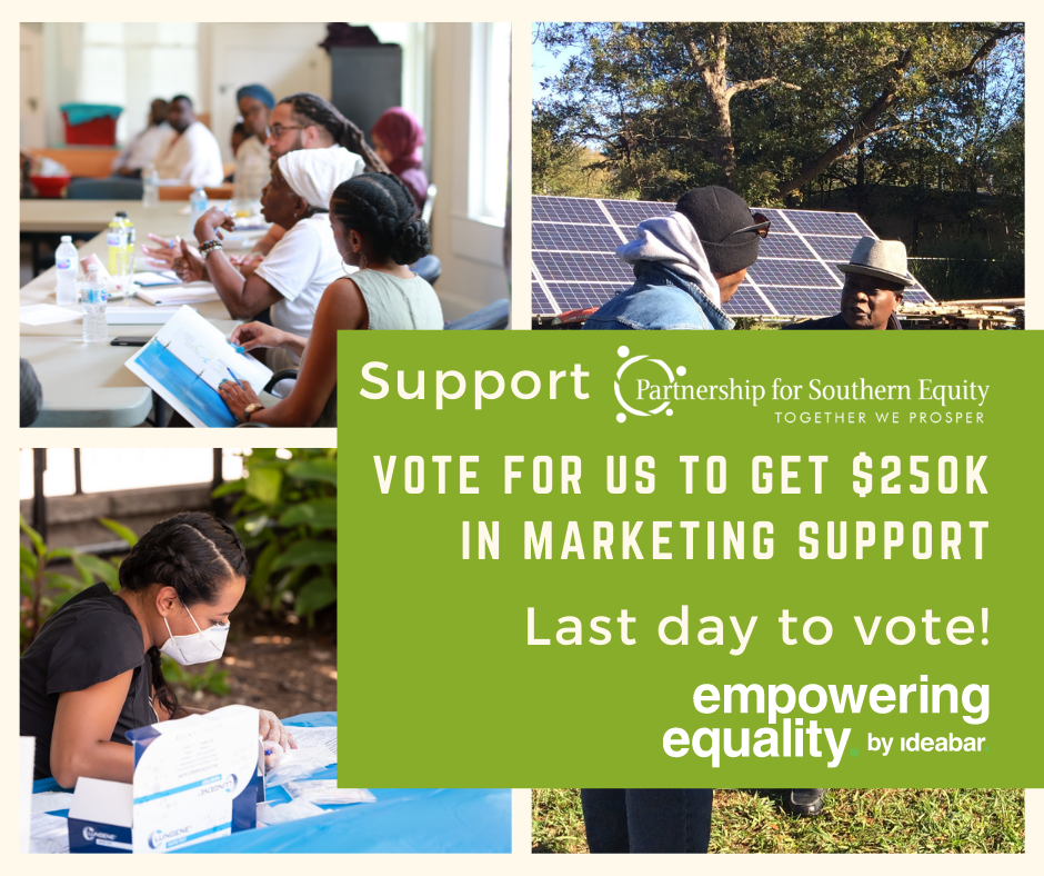 Vote for PSE to receive $250K in marketing support from Ideabar. https://empoweringequality.ideabar.agency/