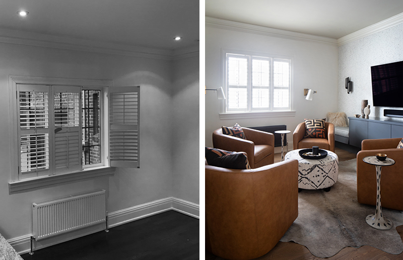 Den Rosedale Townhouse, Before and After, Gillian Gillies Interiors