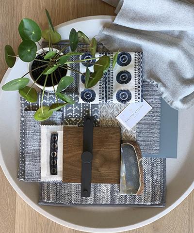 Interior Design Tray Blue - GGI November NewsLetter - Gillian Gillian Interiors