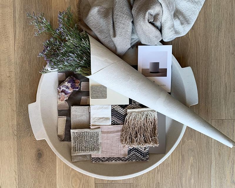 Interior Design Tray Blush - GGI November Newsletter - Gillian Gillian Interiors