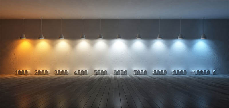 Kelvin colour chart, Shutterstock