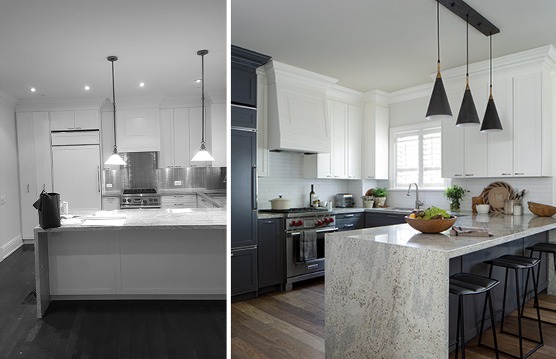 Kitchen Rosedale Townhouse, Before and After, Gillian Gillies Interiors