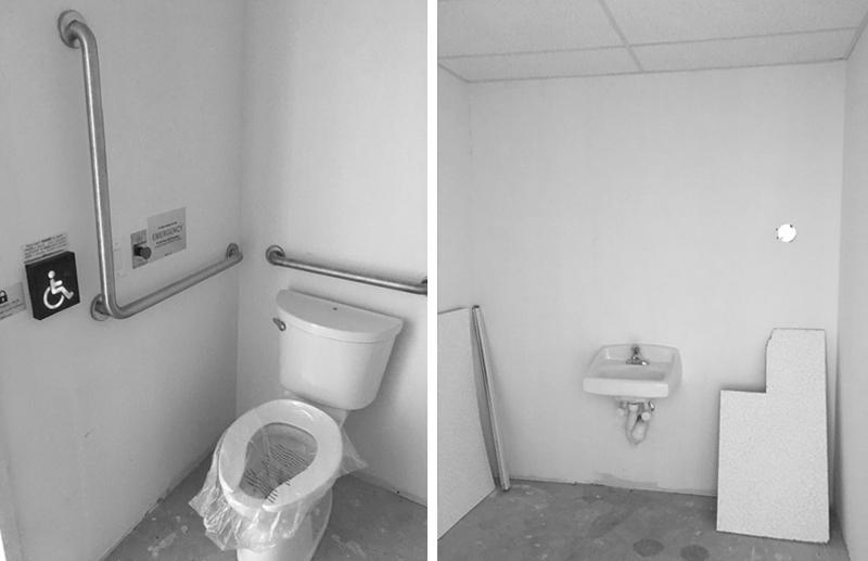 Before Powder Room - Gillian Gillian Interiors - June 2020 Newsletter