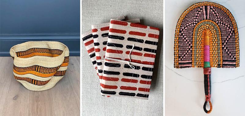 WALTMAN GILLIES Basket, Notepads and Fan - GGI November Newlsetter - Gillian Gillian Interiors - WALTMAN GILLIES