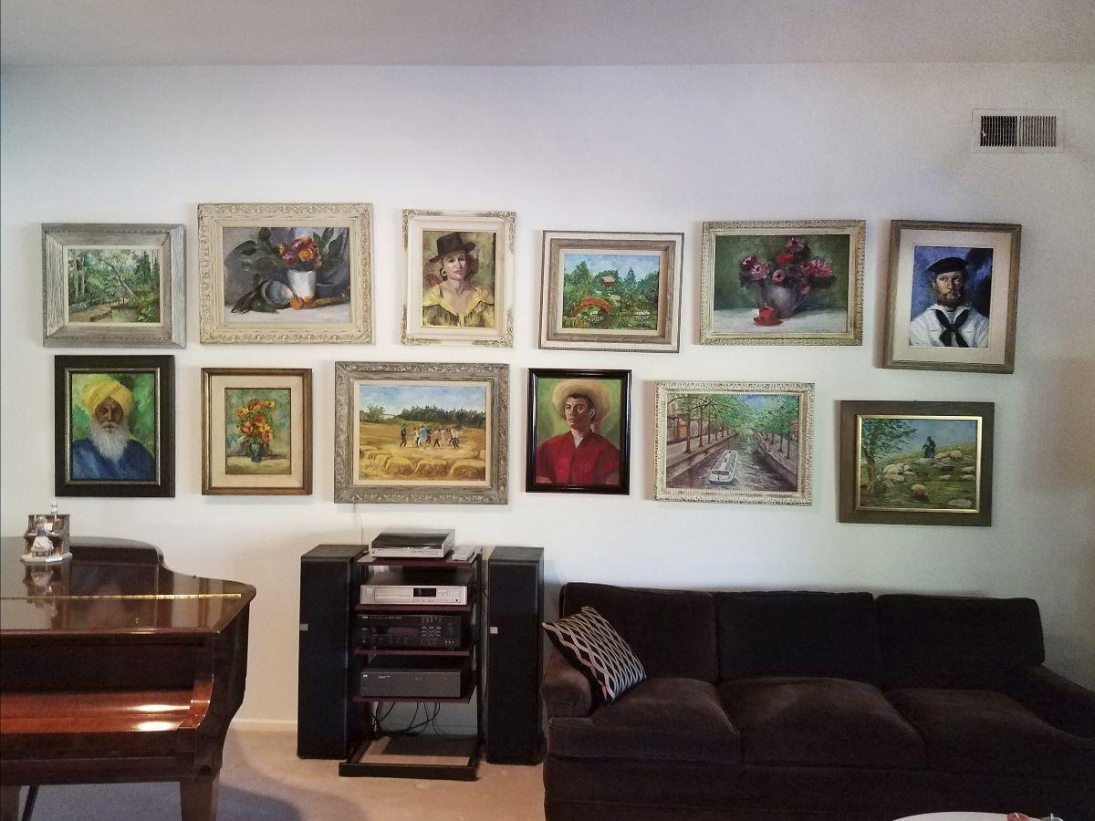Celia Gilens' paintings at Gloria's house