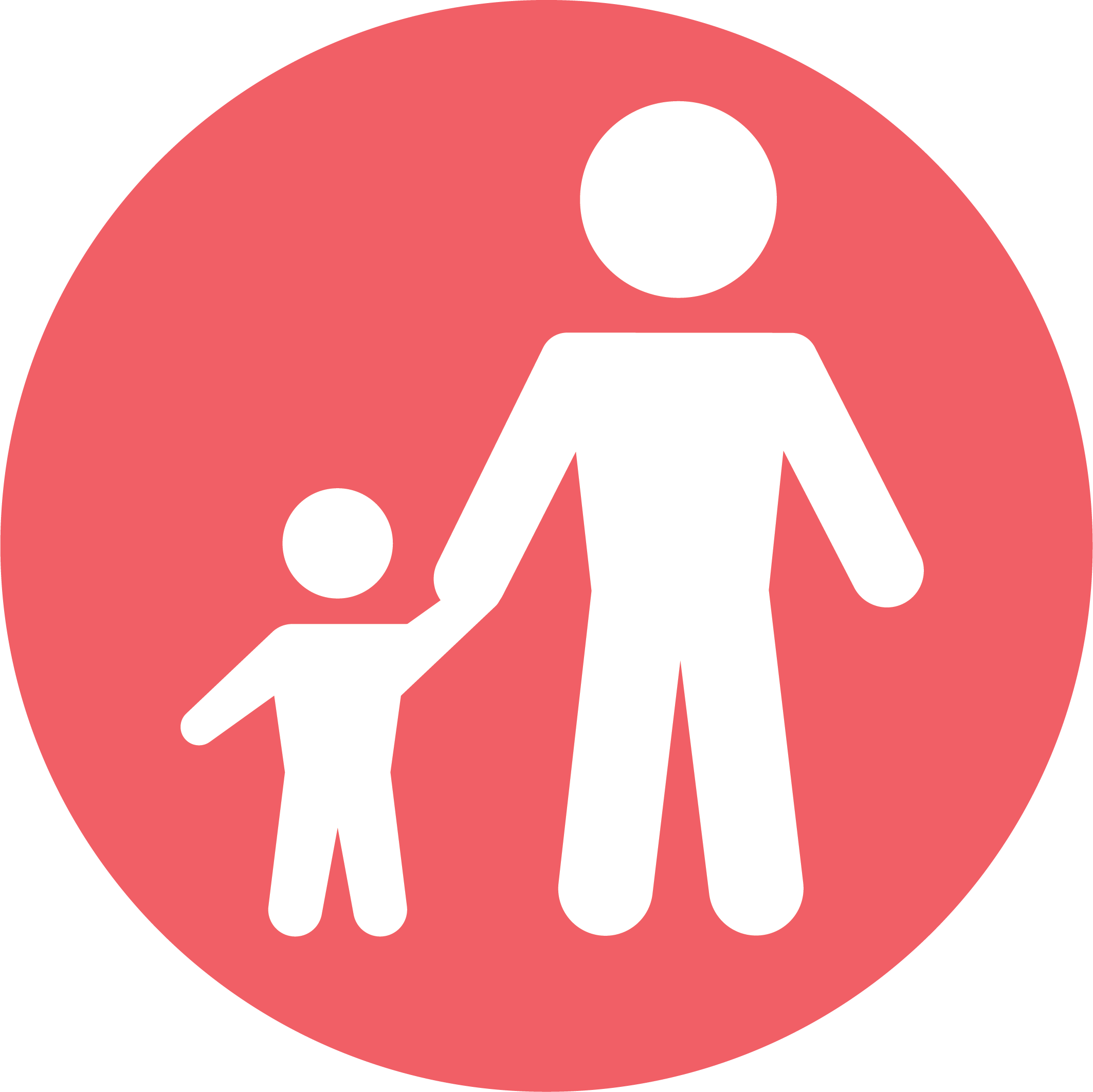 child with parent or support person