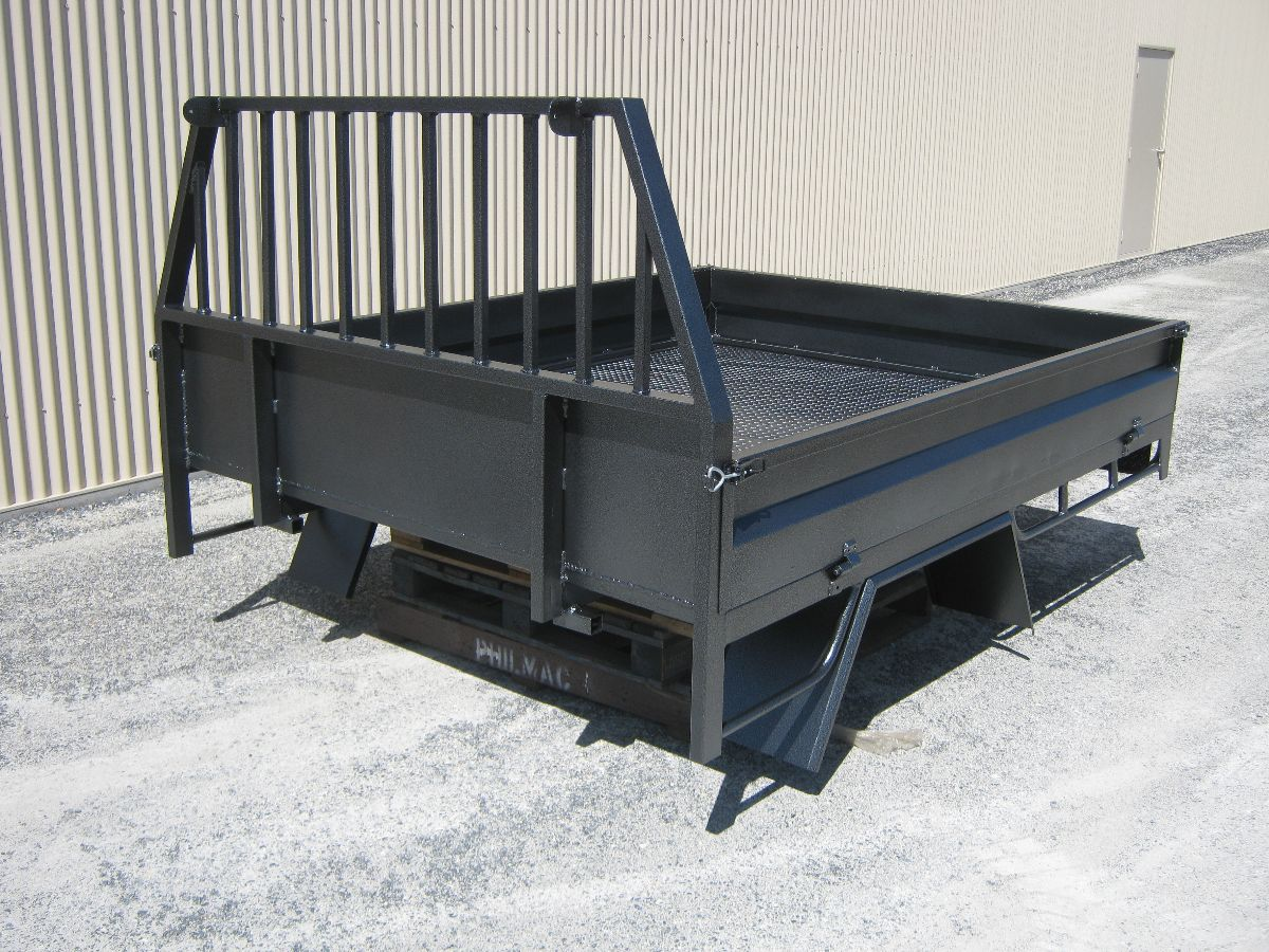 Tasmanian Powder Coating (TPC) Delmade - A Custom Built Ute Tray recently put through our plant
