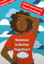 Student wearing Science is Better Together shirt