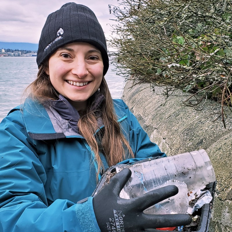 Julia Wakeling, outreach specialist for Great Canadian Shoreline Cleanup, a conservation partnership of Ocean Wise and World Wildlife Fund Canada.
