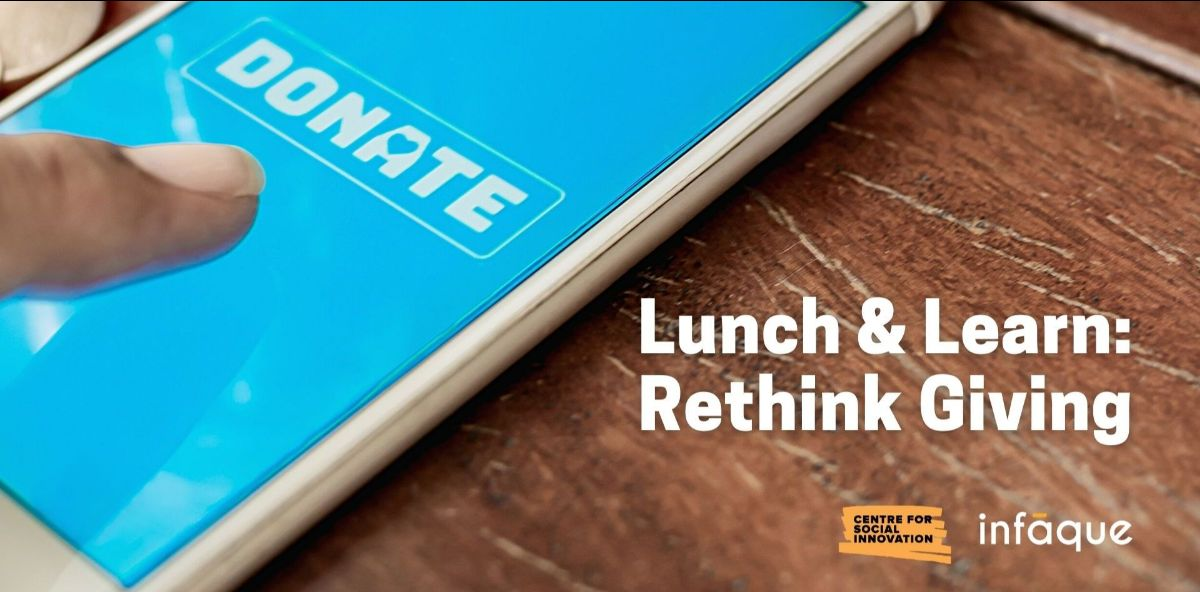Lunch and Learn: Rethink Giving