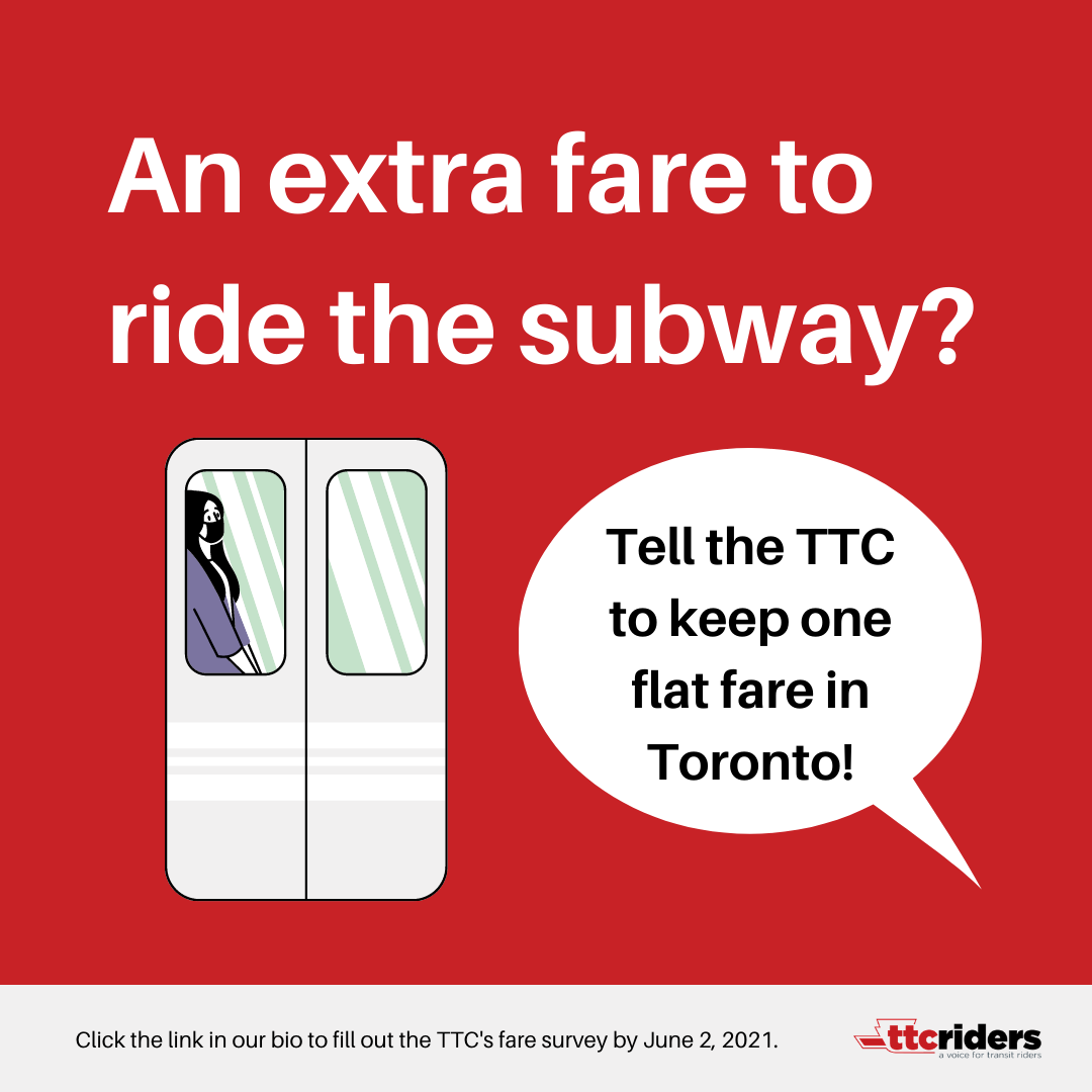 An extra fare to ride the subway? Tell the TTC to keep one flat fare in Toronto!