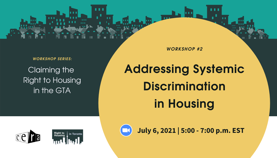 Addressing Systemic Discrimination in Housing: Claiming the right to housing inthe GTA