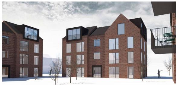 KommuneNyheder - Nye lejligheder erstatter gamle erhvervsbygninger