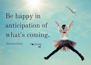 Abraham Hicks quote with person uplifting