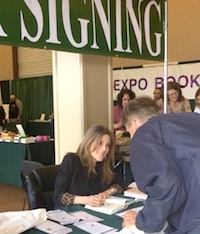 Marianne Signing her books