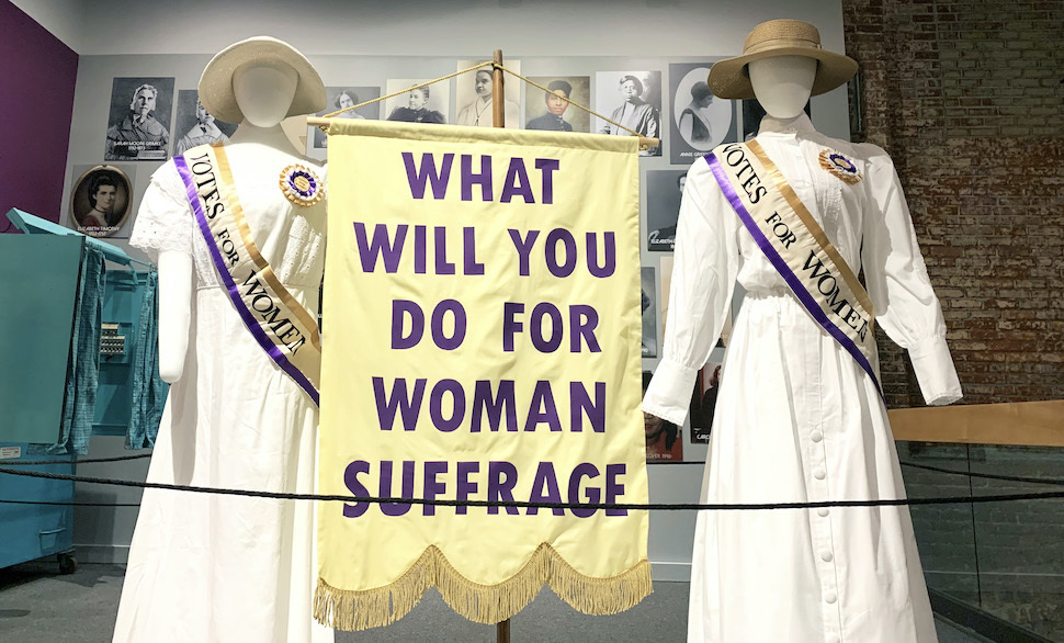 Women's suffrage exhibit