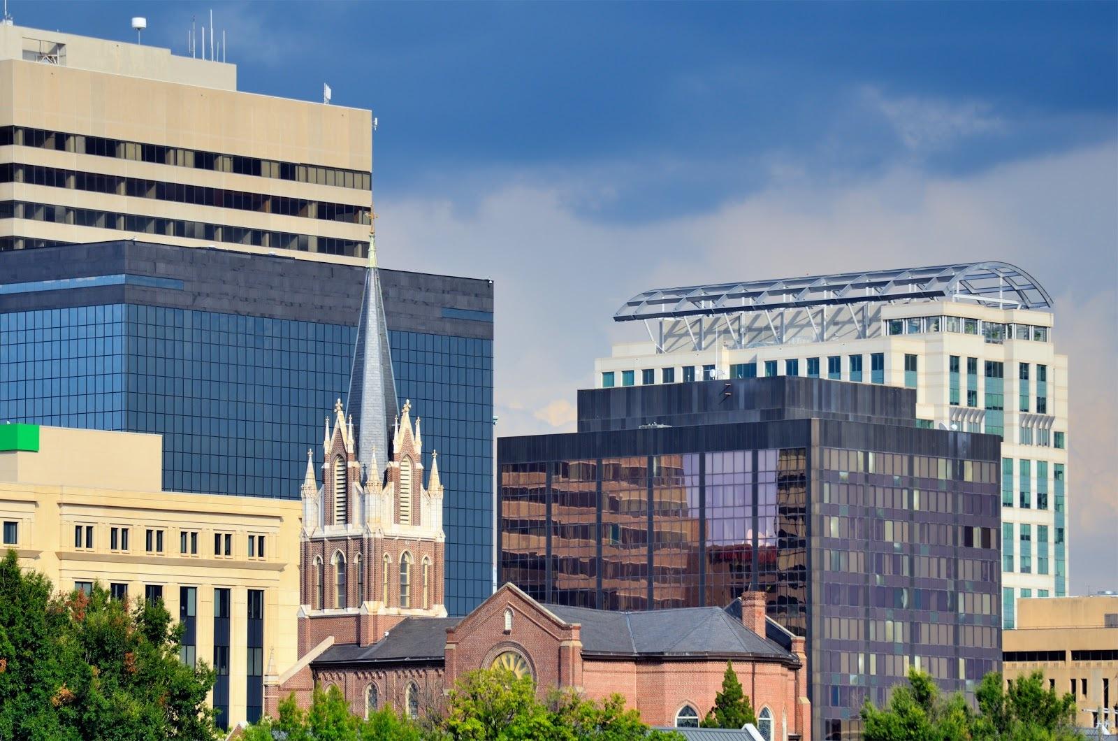 Photo of downtown Columbia, South Carolina's skyline