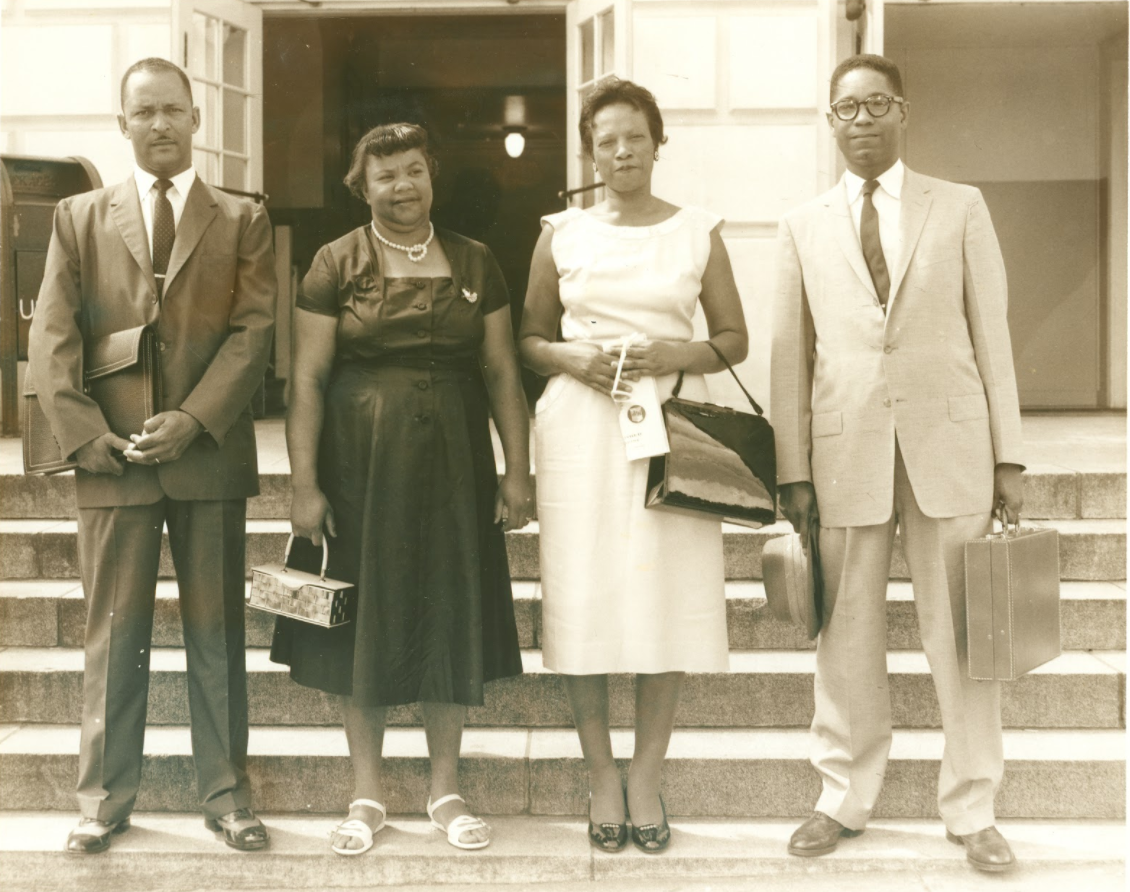 Sarah Mae Flemming, pictured on left middle   Photo from the John H. McCray Papers, South Caroliniana Library, University of South Carolina, Columbia, S.C.