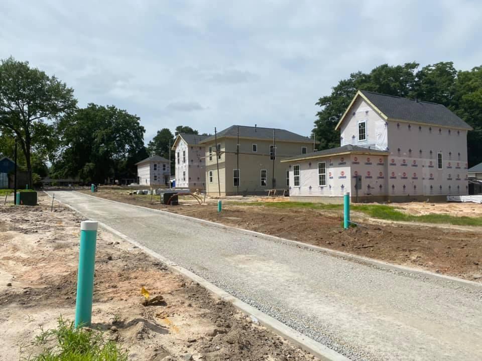 Progress photo of St Ann's Alley construction