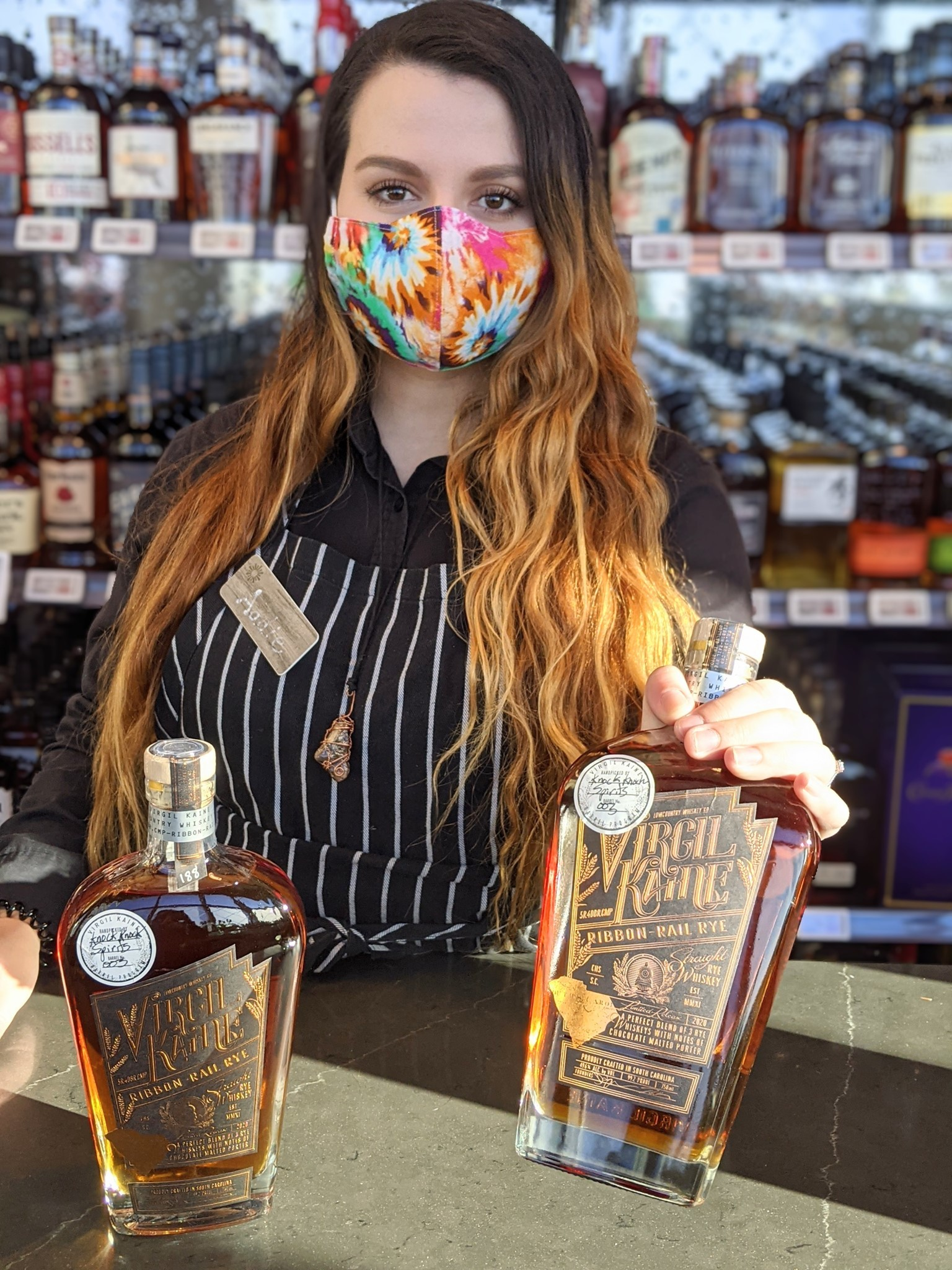 Find the hand-selected batch of Virgil Kaine's Ribbon-Rail Rye exclusive to Knock Knock Spirits next to Lowes Foods on Forest Dr. in Columbia | Photo provided