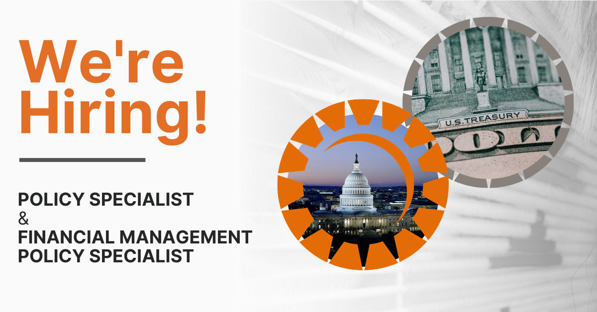We're Hiring: Policy Specialist & Financial Management Policy Specialist