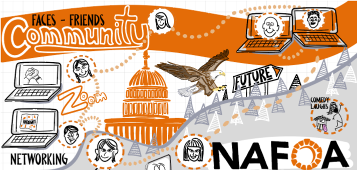 Digital drawing on NAFOA's virtual conferences