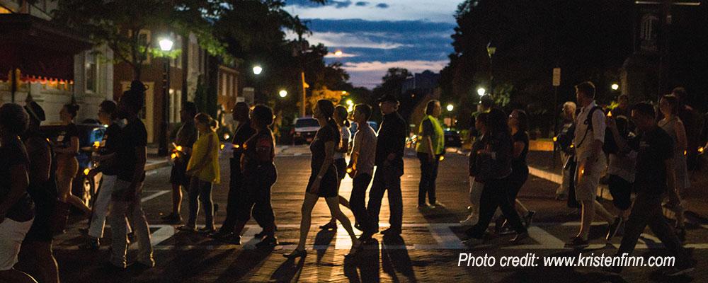 August 2019 Candlelight Vigil. Photo by Kristen Finn
