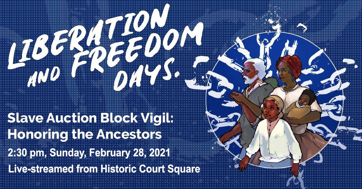 Slave Auction Block Vigil Banner Image