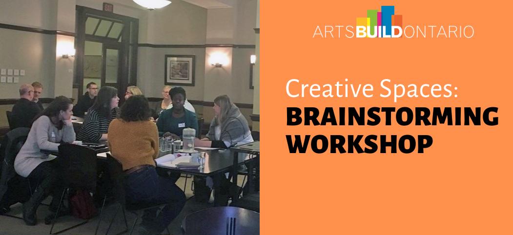 Creative Spaces Brainstorming Workshop Banner