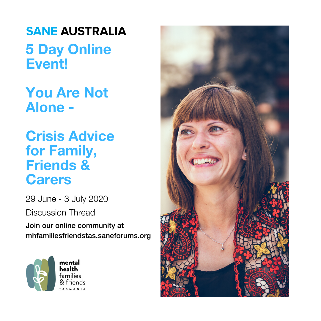 https://mhfamiliesfriendstas.saneforums.org/t5/Special-Events/5-Day-Online-Event-You-Are-Not-Alone-Crisis-Advice-for-Family/m-p/886787