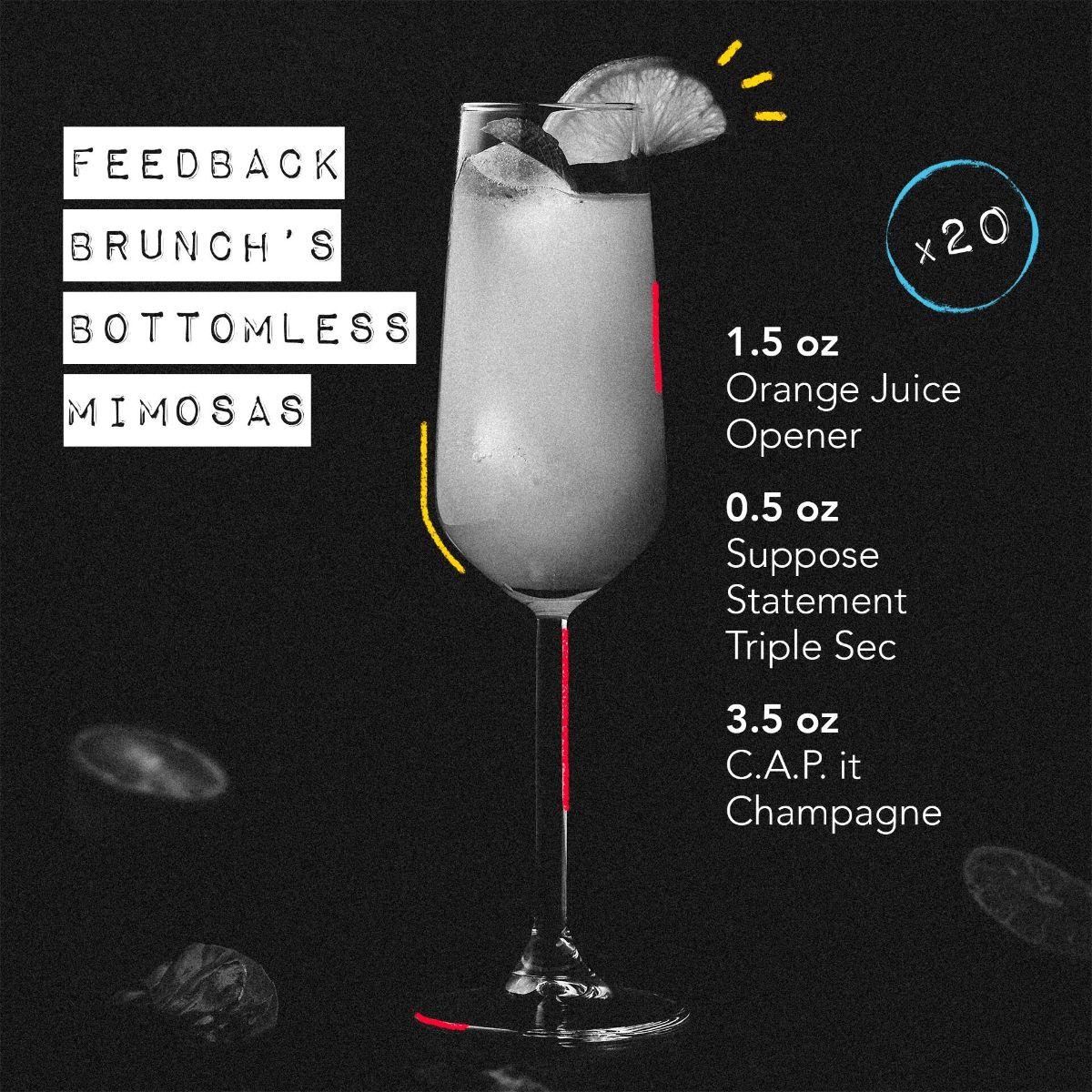 Feedback Brunch's Bottomless Mimosas