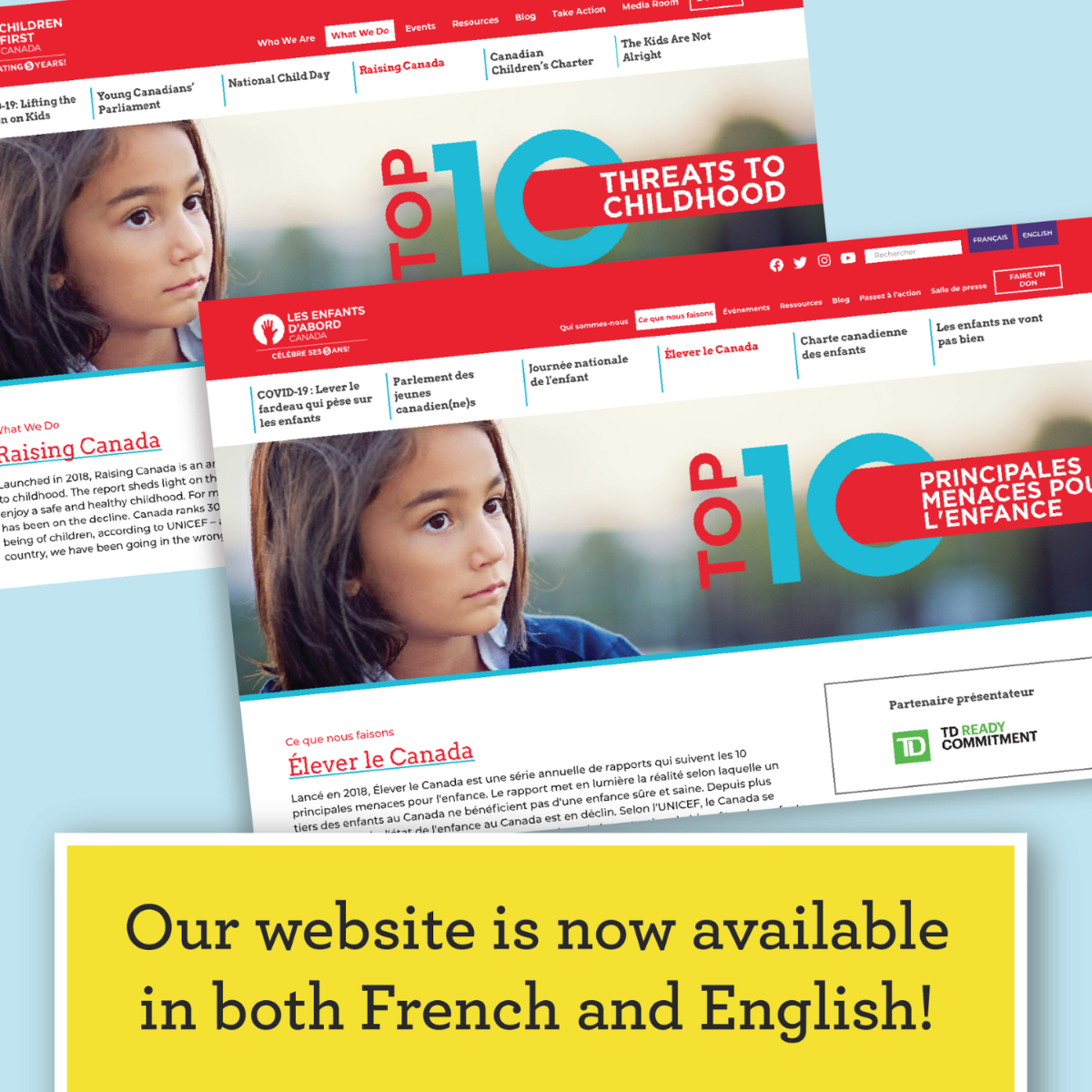 Our website is now available in both French and English!