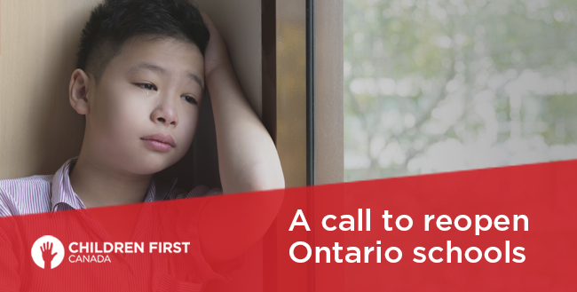 A call to reopen Ontario schools