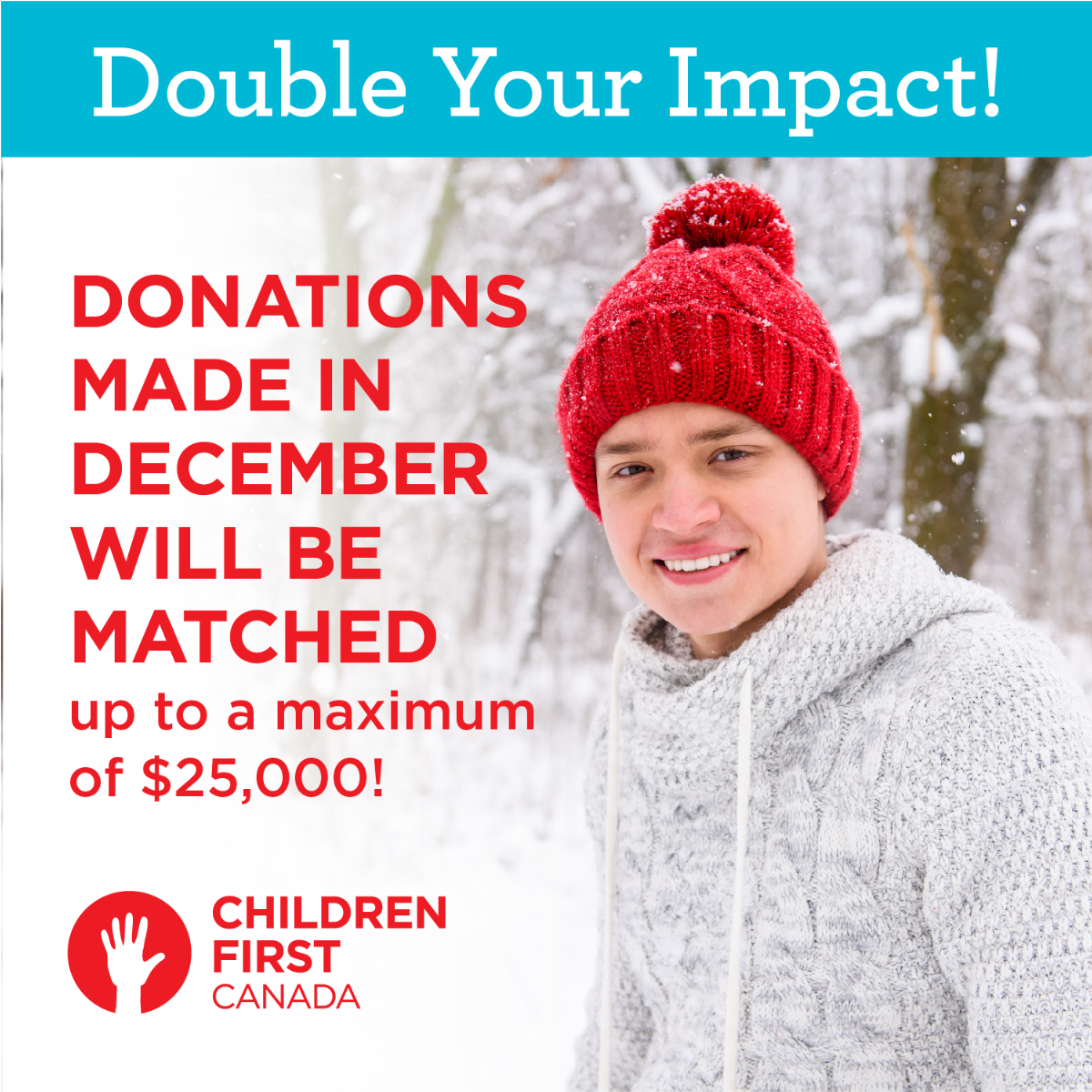 Donations made in December will be matched